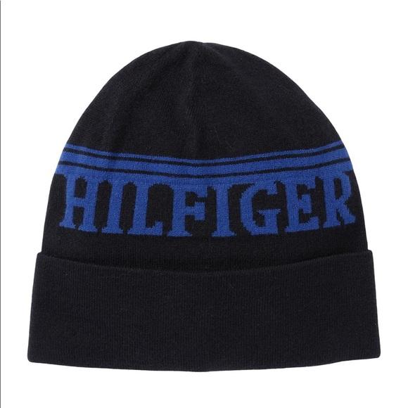 Tommy Hilfiger Sportif Band Cuff Beanie Black Blue